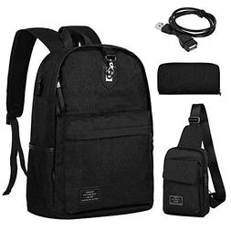 Vbiger 3 in 1 Multifunction Men's Laptop Backpack Lightweigh