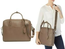 $1275 LONGCHAMP Top Handle Leather Briefcase Document Holder