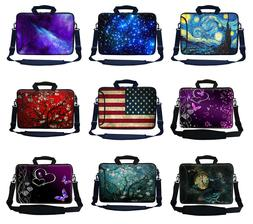 14 inch Neoprene Laptop Computer Case Bag w Side Pocket & Sh