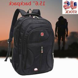 15.6'' Men Laptop Backpack Waterproof Travel School Shoulder