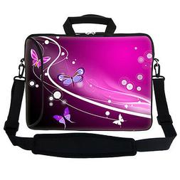 "15.6"" Neoprene Laptop Bag With side Pocket & Handle Shoulder"