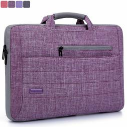 "BRINCH 15.6"" OXFORD PURPLE SUIT FABRIC PADDED SLEEVE CASE ME"