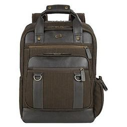 $150 Solo Mens BROWN VINTAGE LAPTOP BACKPACK SCHOOL WORK TRA