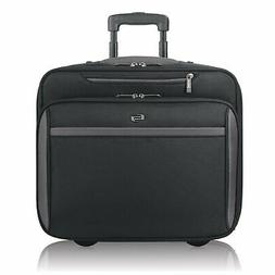 """Solo 16"""" Rolling Laptop Briefcase, Computer Bag in Black"""