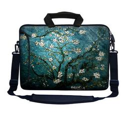 17 17.3 Inch Neoprene Laptop Bag w. Side Pocket Shoulder & S