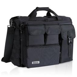 "17.3"" Mens Shoulder Bag Tactical Briefcase Computer Laptop P"
