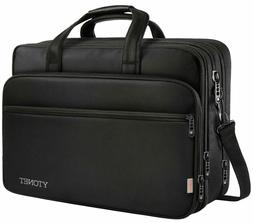 17 inch Laptop Bag, Travel Briefcase with Organizer, Hybrid