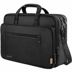 17 Inch Laptop Briefcase for Men, Soft Business Bag for Wome