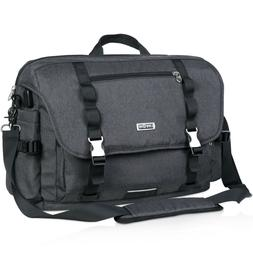 "NEW Mens Laptop Backpack Notebook Bag 17"" Laptop Briefcase A"