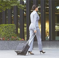 "17"" Rolling Laptop Case Wheeled Briefcase For Women Business"