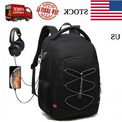 17''Swiss Multifunctional Laptop Backpack Trip Waterproof Ca