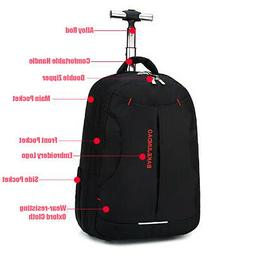 18'' Trolley Wheeled Backpack Travel Luggage Suitcase Laptop