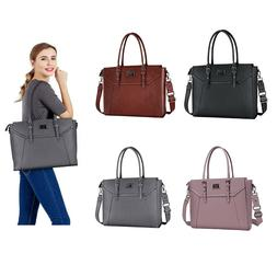 2019 Women Laptop Travel PU Tote Bags for 15.6-17 inch Macbo