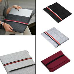 3 Colors Wool Felt Laptop Notebook Sleeve Bag Case Universal