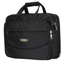 Cabod Laptop And Tablet Messenger Nylon Bag 15.6 Inch - Blac