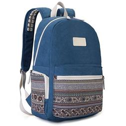 Dachee Blue Bohemian Laptop Backpack with Massage Cushion St