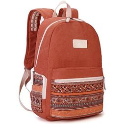 Dachee Red Bohemian Laptop Backpack with Massage Cushion Str