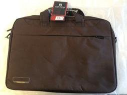 "NEW! BROWN BRINCH COMPUTER LAPTOP BAG 15.6"" BW-220"