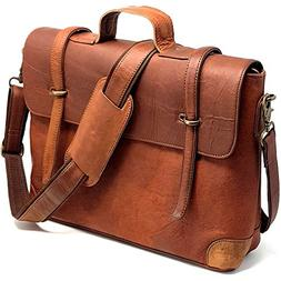 PURPLE RELIC: Rustic Leather 15.6-Inch Laptop Man Bag for Of