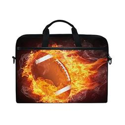 ALAZA American Football Fire Brown 15 15.6 inch Laptop Case