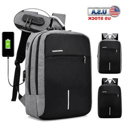 Anti-theft Laptop Backpack USB Charge Port School Travel Com