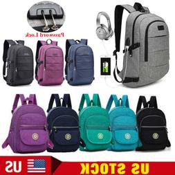 Anti-theft Men/Womens Laptop Notebook Backpack USB Charge or