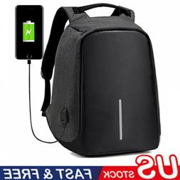 Anti-Theft Waterproof Backpack External USB Charge Port Lapt
