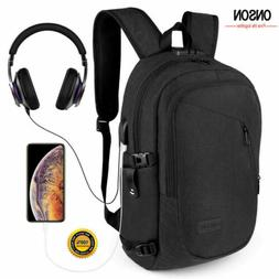Anti-Theft Waterproof Mens Backpack External USB Charge Port