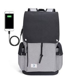 """Crospack Pulling rope and large capacity Backpack 17"""" Laptop"""