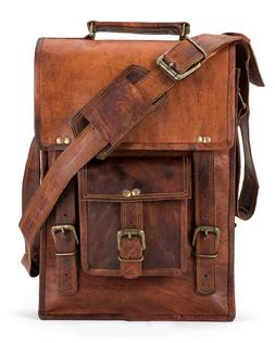 Bag Leather Vintage Messenger Shoulder Men Satchel S Laptop