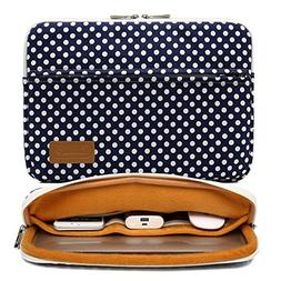 Canvaslife Blue dot Pattern 360 Degree Protective 13 inch Ca