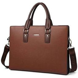 Briefcases Leather Lawyers Shoulder Laptop Business Slim Bag