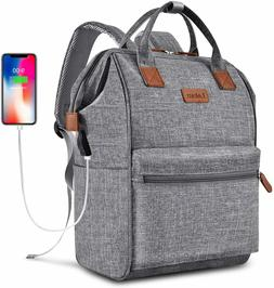 BRINCH Laptop Backpack 15.6 Inch Wide Open Computer Backpack