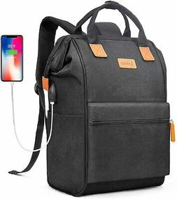 BRINCH Laptop Backpack 17.3 Inch Wide Open Computer Backpack