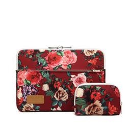 Canvaslife Burgundy red Roses Pattern 360 Degree Protective