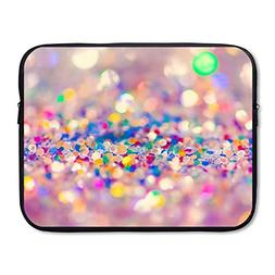 Business Briefcase Sleeve Abstract Colorful Glitter Laptop S