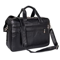 Augus Business Travel Brifecase Genuine Leather Duffel Bags
