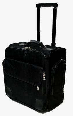"Business Case and luggage Black 14"" rolling laptop briefcase"