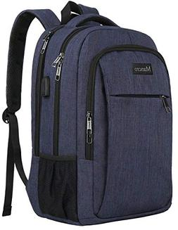 Business Laptop Backpack, Mancro Travel Backpack with USB Ch