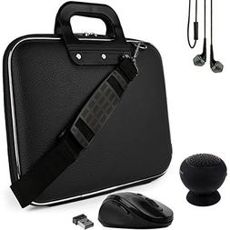 SumacLife Cady Black Laptop Carrier Bag w/ Mouse, Earbuds, a
