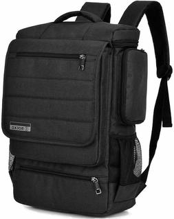 SOCKO CANVAS 17.3 LAPTOP BACKPACK BUSINESS TRAVEL LUGGAGE BA