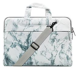 Mosiso Canvas Marble Pattern Style Laptop Shoulder Bag Case