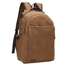 Canvas Vintage Laptop Backpack, ORSIEC Business Water Resist