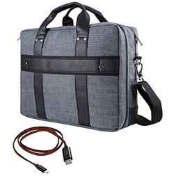 Vangoddy 17.3 Inch Chrono Grey Tote Messenger Carrying Bag f