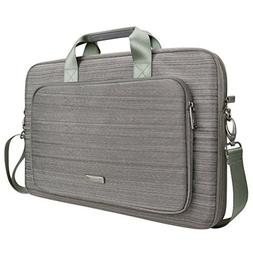Evecase 17inch Laptop Case, Classic Padded Briefcase Messeng