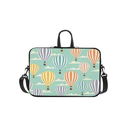 Colorful Cartoon Hot Air Balloon Pattern Pattern Briefcase L