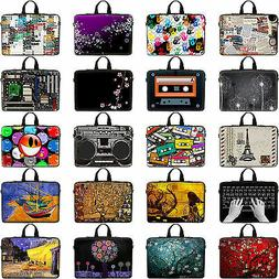 Colorful Design Laptop Sleeve Case Bag w. Hidden Handle Fit