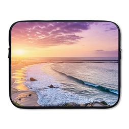 CHERINA RHEA Computer Bag Laptop Case Sleeve Bag Beach Sunse