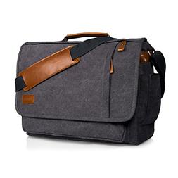 Estarer Computer Messenger Bag Water-Resistance Canvas Shoul