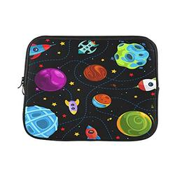 Design Custom Color Children Pattern with Cute Planets Rocke